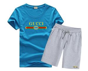 Louis Vuitton GUCCI 2019 Frühlingsmänner Baumwollt-shirt Hosen Zwei-Piec Suit 2pcs Kleidungssätze geben Verschiffen frei