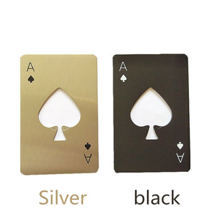 Spades A credit card type bottle opener creative playing card shape stainless steel household tool bottle opener beer screwdriver