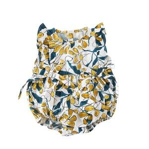 Baby Girl Rompers рукавов цветок девочки Комбинезоны Ананас малышей восхождение одежды младенца лета одежды 2 Designs факультативный WZW-YW3807