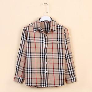 Camisa grande de los niños Camisa de manga larga de la manga grande para niños de la primavera de los niños 2019 de la camisa del niño