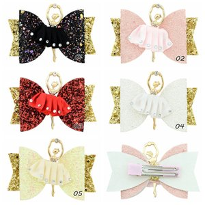 Baby girl Princess Hairpins Glitter Hair Bows with Clip Dance Party Bow Hair Clip Girls Hair Accessories