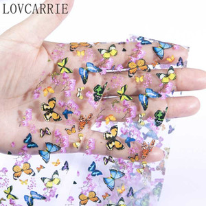 Tırnaklar Dekorasyon YENİ Kelebek Tırnak Sanat Transferi Folyolar Tırnak Sticker Holografik Çiçek Starry Folyo Çıkartma Kağıdı