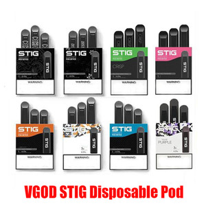 Original Vgod Stig Pod Starter Kits 270mAh Battery Charged Disposable Vape Pen empty ECig Kit with 1.2ml Pods Portable 100% Authentic