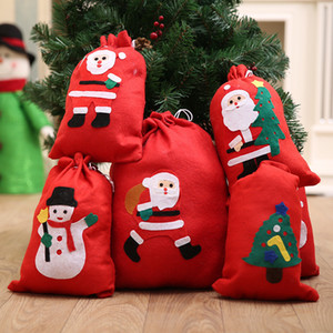 Christmas Gift Bags Santa Claus Big Backpack Kids New Year Banquet Gifts Holders Bag Home Xmas Party Decal Christmas Decorations