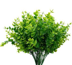 Artificial Boxwood Hastes Verdura Hastes Plantas artificiais ao ar livre plantas falsas resistentes para Farmhouse Início do casamento do jardim Pati DHB306