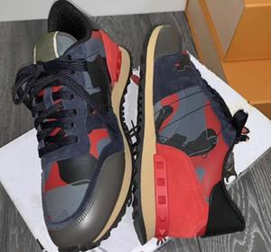 Los nuevos zapatos para correr Rockrunner camuflaje zapatillas de deporte para hombre del cuero auténtico mujeres de malla Combo Roca corredores de las zapatillas de deporte tamaño entrenadores deportivos 35-45