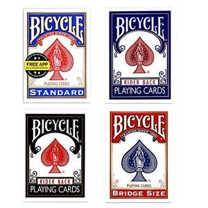 Bicycle Rider Back Standard Index Carte da gioco Red / Blue Deck Poker Size 808 New Sealed USPCC USA Carte magiche Trucchi magici Puntelli