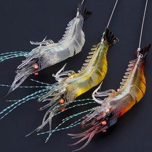 Cheap Fishing Lures Hot Sale1Pcs 9cm Shrimp Simulation Soft Prawn Lure Hook Tackle Bait Fishing Lures