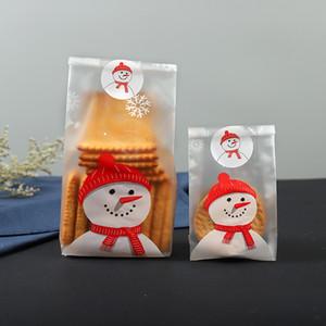50 pc regalo di Natale Bag Babbo Natale del pupazzo di neve Cellophane Cookie Fudge Candy di Buon Natale del biscotto del biscotto Candy Bag