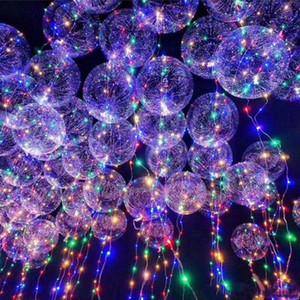 LED 밤 빛 풍선 웨딩 크리스마스 파티 조명 장식 3 미터 LED 보보 풍선 투명 LED 파티 장식 풍선 DHL AN2630