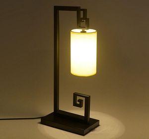Estilo Pano chinês Desk Lamp Criativo Ferro Quarto Sala de Estudo Mesa de Luz Sala Tabela Lâmpadas LLFA