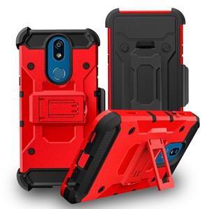 3 в 1 Defender Прочный Robot чехол для LG Stylo 4 5 K40 V7 Aristo 4+ X320 побег Plus крышки с зажимом для ремня