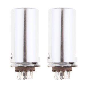 2x 9Pin Vakuum-Röhrenfassung W / Aluminium für 12AX7