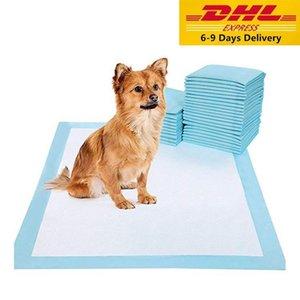 Nave de DHL 20pcs del gato del animal doméstico del pañal absorbente estupendo formación interna de ratón para cachorros polímero más rápido en seco de ratón mascota sana Wet Clean Mat