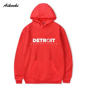 Aikooki Become Human Hoodies Game Print Spring Mens Regular Sweatshirts Fashion Hoodies Casual Cloats Plus Size Boys Top