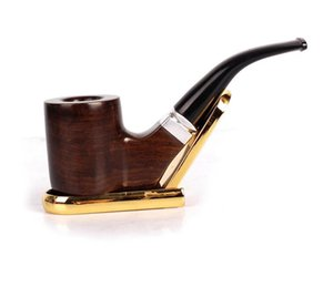 Black sandalwood ebony hand pipe solid wood pipe filter cigarette fittings