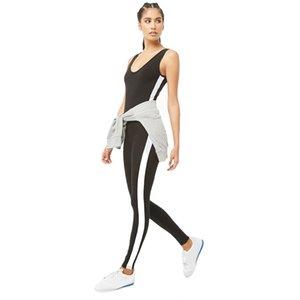 Женская плотная белая полоса спортивная йога костюм для женщин профессиональный фитнес работает выдалбливают эластичная ткань