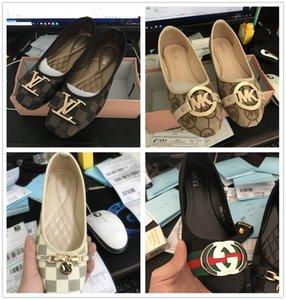 Shallow clássico Flats marca calçados casuais Mulheres metal Loafers deslizar sobre Mocassins Feminino Suede designer de couro de luxo sapatos baixos gg canal