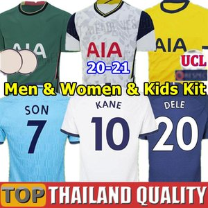 Tottenham Hotspur 19 20 NDOMBELE Spurs Camisetas de fútbol 2019 2020 KANE DELE Camiseta de futbol ERIKSEN SON LUCAS Hombres Mujer kit de niños uniformes