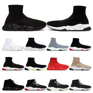 Balenciaga Oferta especial 2019 Speed Trainer Sapatos Da Marca de Luxo vermelho cinza preto branco Flat Clássico Meias Botas Sapatilhas Mulheres Formadores tamanho Runner 36-45