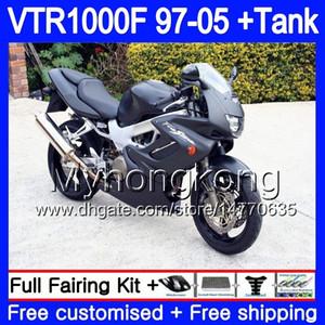 HONDA 매트 블랙 바디 SuperHawk VTR1000F 97 98 99 00 01 02 256HM.19 VTR1000 F VTR 1000 F 1000F 1997 1998 1999 2000 2001 2002 페어링