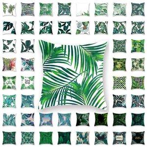 Tropical Plant Taie Housse de coussin carré Oreiller Coussin Glamour Case Cover Accueil Bureau Canapé Décoration de voiture XD21888