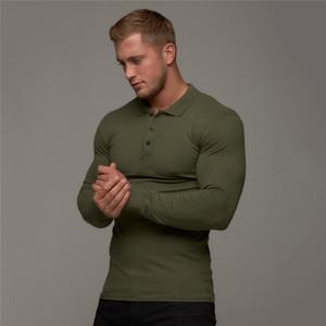 Moda Marca Polo Mens Casual Moda respirável Algodão Camisa Polo Homens de negócios Long Sleeve alta qualidade Poloshirt Homens