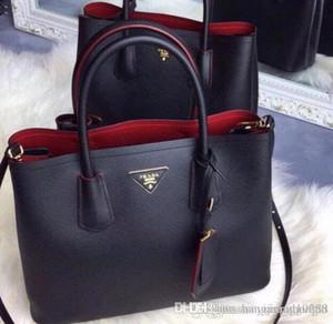 Al por mayor-Diseñadores de la marca de moda Bolso de las mujeres Bolsos de hombro de cuero genuino Top Handle saffiano Bag de alta calidad Lady Totes Messenger Bag