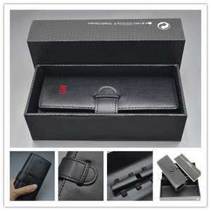 Lüks Deri Kılıf Taşınabilir Siyah mb Kalem Kılıfı Çanta 1 Kalem Yüksek Kalite Marka Moda Kalem Seti Aksesuarlar + Hediye Kutusu + Manuel İçin