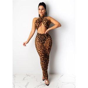 2020 Frauen-Leopard druckt Jumpsuits Sexy Damen-Spielanzug beiläufige lose Panelled Bekleidung