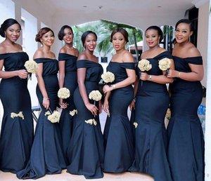 2020 Generous Mermaid Bridesmaid Dresses Off Shoulder Backless Pleats Floor Length Wedding Guest Dresses Formal Maid of Honor Dress