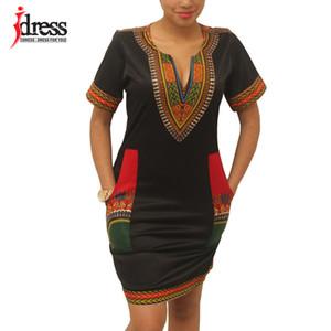 Hambelela été Vintage Femmes Tunique Casual Plage 2020 Imprimer africaine Shirt Robe Femme Taille Plus Dashiki Robe Y200623