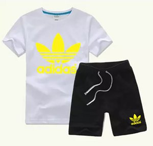 2020 HOT SELL New Style Childrens 2-9T years Clothing For kids Boys And Girls Sports Suit Baby Infant Short Sleeve Clothes Kids Set iorus4s