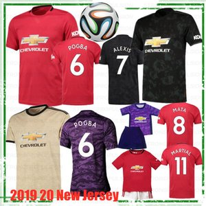 POGBA 2019 20 manchester Top quality soccer jersey LINGARD LUKAKU RASHFORD football shirt united UtD 19 20 uniforms man + kids kit