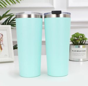30oz Stainless Steel Tumblers Vacuum Insulated Straight Cups Taper Cup Beer Mug Wine Glasses With Lids Metal Water Bottle GGA2704