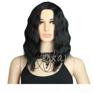 Short Curly Full Lace Hair Lady Synthetic Wigs For Black Women Bob Wavy Lace Front Wig With Baby Hair Fzp183