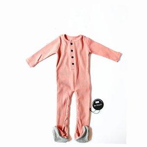 2019 Baby Anzug Baby Kleidung Mode Sommer Jersey Baumwolle Innenbekleidung Strampler Mit Bonet J190427