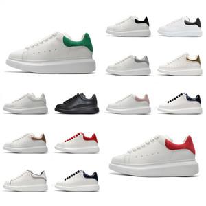 2019 NOVO Designer de sapatos de couro branco 3M ocasional reflexivo para mulheres dos homens de moda vermelho confortáveis ouro preto esportes planas tamanho da sapatilha 36-44
