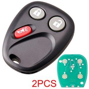 2pcs Noir 315Mhz 3 Boutons de voiture de remplacement sans clé à distance clé Fob LHJ011 Fit pour Chevrolet KEY_64P