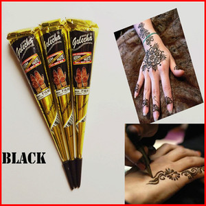 Black Indian Henné Tattoo Paste Body Art Paint Mini Pasta all'hennè naturale per Body Drawing Temporary Draw On Body
