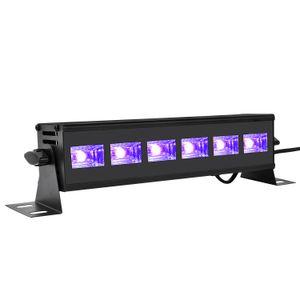 18W الأشعة فوق البنفسجية الأرجواني ضوء مصغرة حجم الصمام شريط مصباح الأزياء الأسود تأثير الضوء ديسكو حزب المرحلة الإضاءة تركيبات