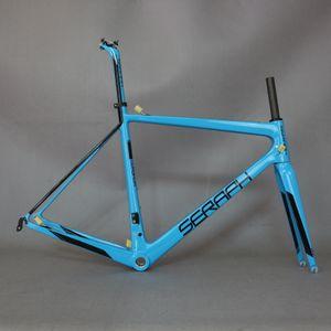 T1000 super léger cadre de bicyclette de carbone. Nouveau 2019 Super Light Di2 Compatible OEM Carbon Route Cadres, cadre SERPAH