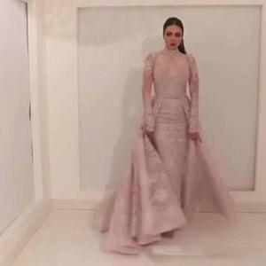 Yousef aljasmi soirée Robes tribunal train robes Moyen-Orient Dessus de jupe tenue de soirée 2018 Labourjoisie dentelle robe de bal