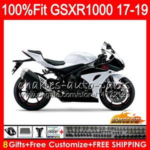 Injeção Para SUZUKI GSX R1000 GSX-R1000 GSXR 1000 17 18 19 17HC.20 L7 L8 GSXR-1000 K17 GSXR1000 2017 2018 2019 branco brilhante novo kit de Carenagem
