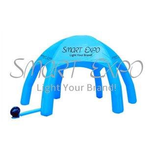 Outdoor Advertising 6 pernas de aranha barraca inflável Canopy com 6 pernas de aranha Tent personalizado Impressão Base de Blower W4 x H3.5 m