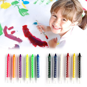 6 Farben Face Painting Crayon Bleistifte Splicing Struktur Gesichts-Farben-Kreide-Körper-Anstrich-Feder-Stock für Kinder-Party-Make-up-Tools RRA3246