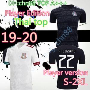 Oyuncu Versiyon 2020 Meksika Futbol Forma Milli Yeni Deplasman Beyaz 19 20 Siyah Chicharito LOZANO Guardado CARLOS VELA RAUL Futbol Gömlek