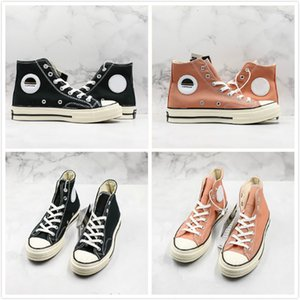 New Custom Convase 197S0 3 Star Leisure Sneakers Copson London High Top Canvas Shoes Designer Black And Pink Casual Shoes