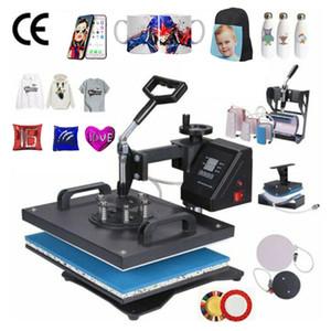 30 * 38cm 8 en 1 Combo Heat Machine de presse Sublimation imprimante transfert thermique 2D Tissu Cap Tasse Plate T-shirt Machine d'impression