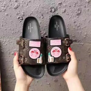 Scarpe casual da donna fashion designer Sandali flat da spiaggia Sandali con fondo colorato di alta qualità Taglia: 35-41 Con scatola L15